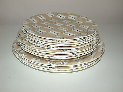"CROWN DUCAL CHALET 4 DINNER PLATES 4 X 9""  PLATES  5  DESSERT PLATES"
