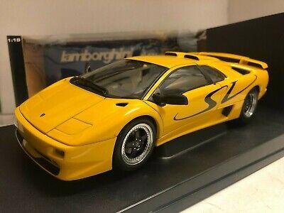 USED *READ AUTOart Lamborghini Diablo SV Coupe Yellow 1/18 70083 Extremely RARE