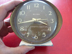 Vintage Big Ben Wind Up Clock by Westclox Alarm Desk Clock - As Is -