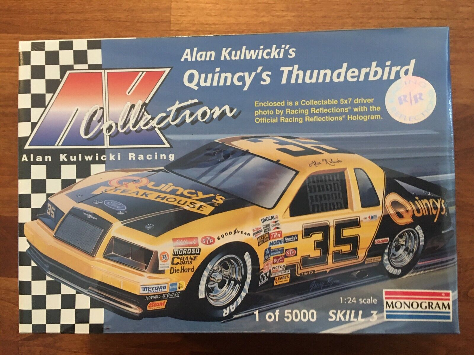 LAST 1 1985 Monogram 35 Quincy Steakhouse Alan Kulwicki Ford T-bird 1/24 Model - $18.50