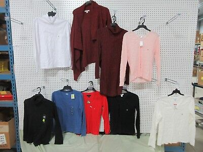 9 WOMEN CLOTHING SWEATER BLOUSE PULLOVER TURTLE NECK LOT MD M MEDIUM LONG SLEEVE