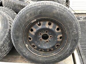 Dodge Caravan Hankook winter IPike Tires On Rims