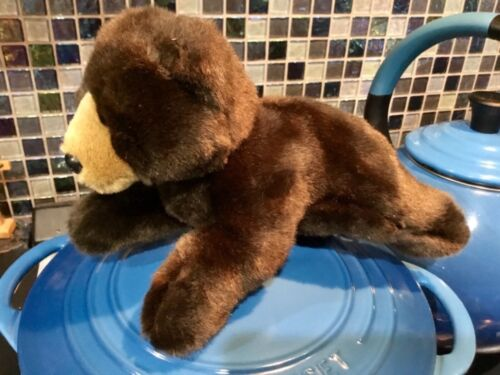"""NEW BANK OF THE WEST CALIFORNIA GRIZZLY BEAR MASCOT PLUSH STUFFED SOFT TOY 8"""""""