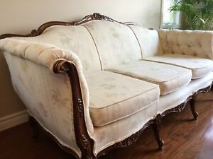 Sofa Antique Queen Anne Chippendale (+100ans)