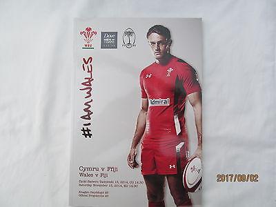 Wales v Fiji. Rugby Union. 2014.