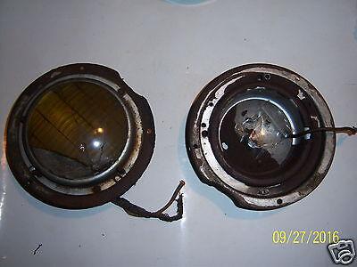 VINTAGE 1946-48 LINCOLN FOG LAMP HOUSINGS(2)W/O BULBS