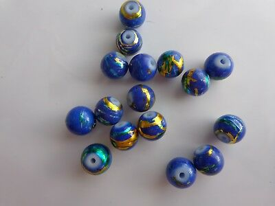200x blue beads 8mm ideal for jewellery making