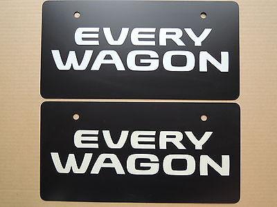 JDM SUZUKI EVERY WAGON Original Dealer Showroom Display License Plates Pair