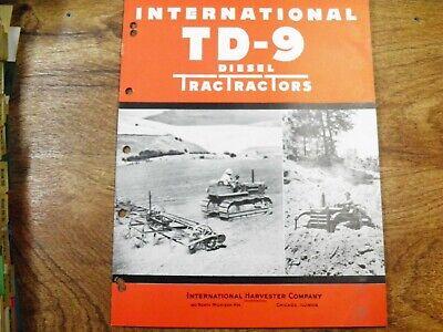Ih International Td-9 Tractor Sales Flyer Original