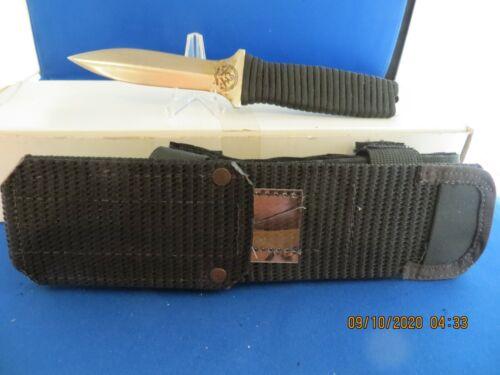 Vintage John EK PB 7 Knife Black Cord Wrap Secret Agent
