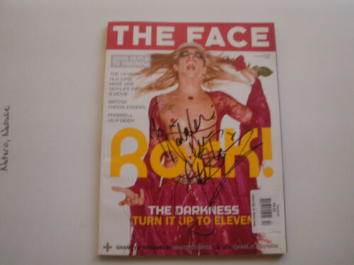 JUSTIN HAWKINS SIGNED COVER OF 2003 THE FACE MAGAZINE RARE