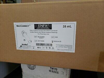 Enfit 35ml Bas35nc Neo Connect Pharmacy 35ml Amber Barrel  Cs 200