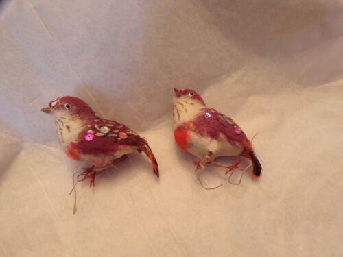 Vtg Christmas Ornaments 2 Birds
