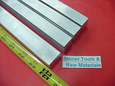 4 Pieces 34 X 1 Aluminum 6061 Flat Bar 24 Long Solid Extruded New Mill Stock
