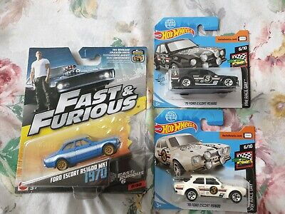 Hot Wheels The Fast and Furious Ford Escort 6/32 Brand New Unopened plus gumball