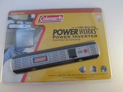 Coleman 150 Watt Power Works Power Inverter 12 Volt AC & USB Power  Coleman Power Inverter