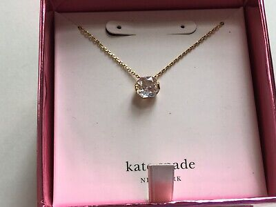 Kate Spade Necklace Gold Tone New Over Stock In Gift Box