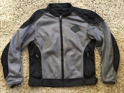 HARLEY DAVIDSON MESH JACKET Men's Large Gray Black
