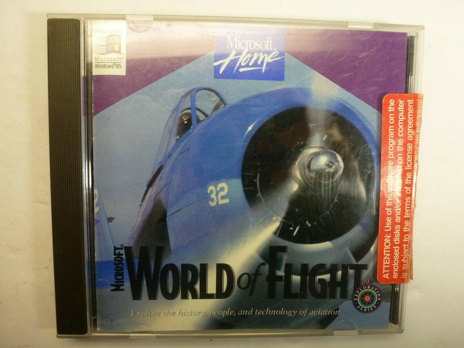 Computer Games - Microsoft World of Flight Computer Game -  Windows 95/98