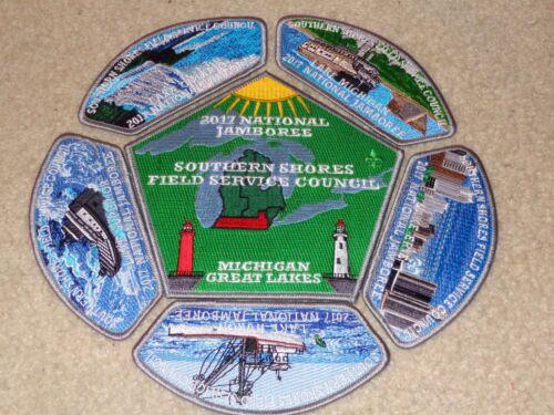 Boy Scout Southern Shores Michigan Council 2017 National Jamboree JSP Patch Set