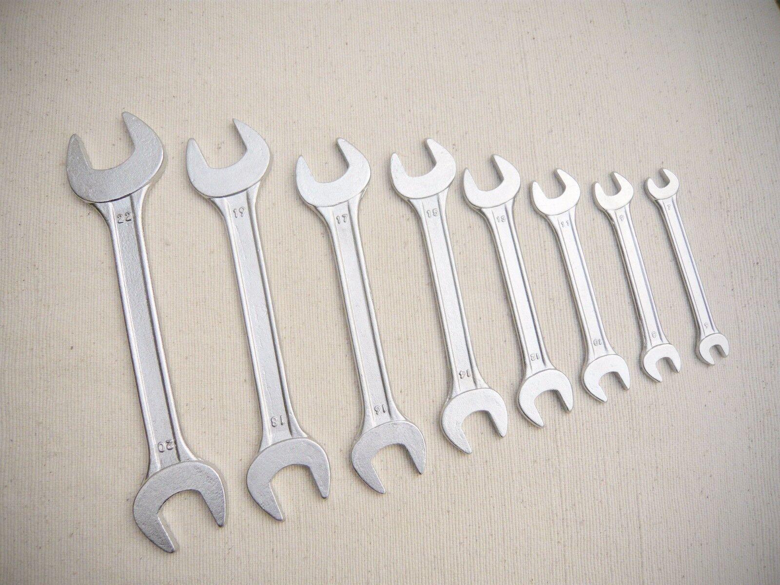Maulschlüssel Satz 8-tlg 6 - 22mm Maulschlüssel  Schraubschlüssel Werkzeugstahl