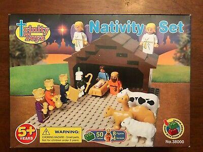 NEW TRINITY TOYZ IMEX CHRISTMAS NATIVITY SET BUILDING BLOCK SET COMP W/ LEGOS