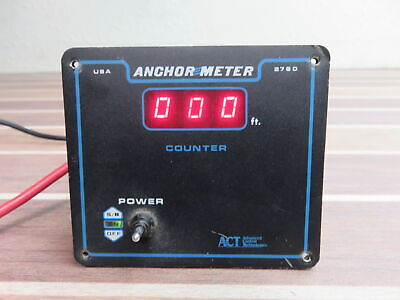 ACT 2760 Anchor Meter Boat Marine Programmable Anchor Chain Counter Display Act Meter