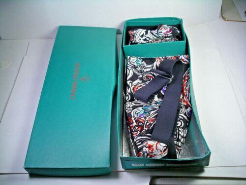 Vintage Giorgio Patrino Bow Tie Cummerbund 100% Silk Set with Box size fits all