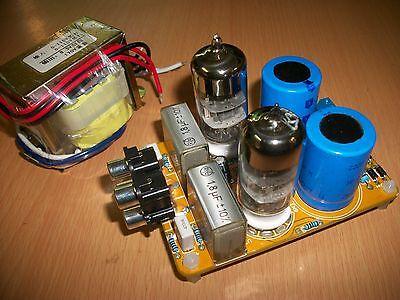 Preamplificatore a valvole con 2 tubi 6N3, HiFi stereo montato collaudato