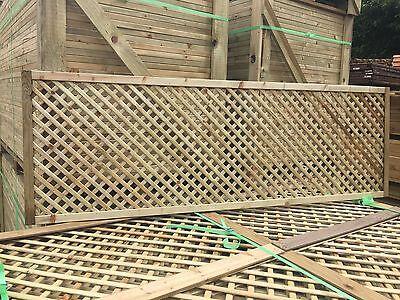 6x2 Elite Privacy Alderley Diamond Trellis 183x60 Garden Lattice Fence Topper