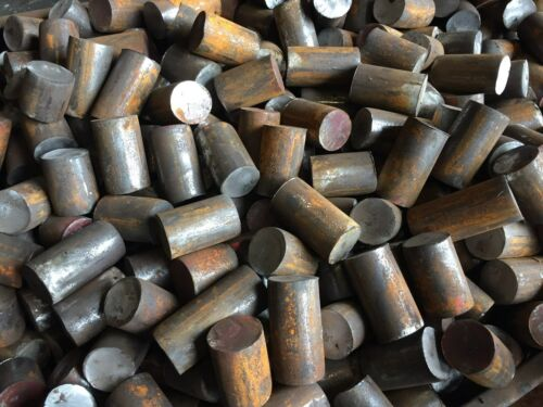 "1 3/4"" 1.75"" Round 4130 Steel Alloy Rolled Bars Billets (3) 7""+ Lengths H&L"