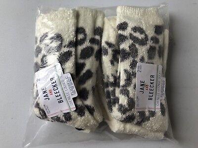 2 X JANE & BLEECKER  Pack Of Two Cream Fluffy Socks  Size 9-11 UK 3-8