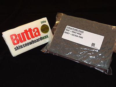 Butta Original Ski & Snowboard Wax 200g + FREE Base Structure Pads & - Ski Wax Guide