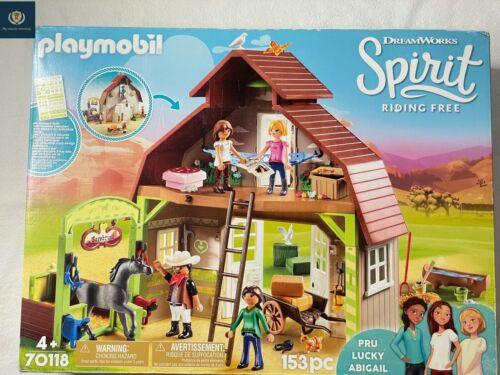 PLAYMOBIL DreamWorks Spirit 70118 Pferdestall mit Lucky, Pru & Abigail Neu