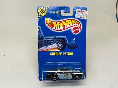 HOT WHEELS--SHERIFF PATROL-POLICE-- #59 (1990)-SEALED ON CARD-LOOK-