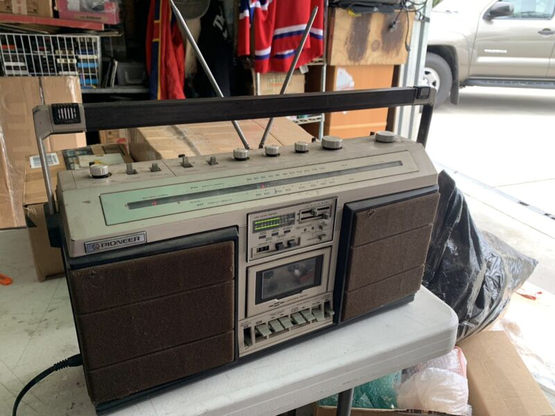 Vintage 1980's PIONEER SK-71 Stereo Boombox Ghettoblaster Top Of The Line