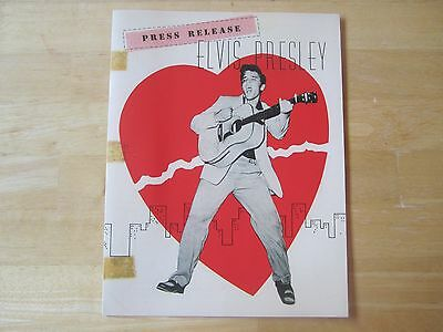 1956 Elvis Presley Press Release  EPE reproduction