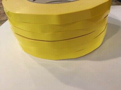 6 Rolls Red Produce Poly Sealing Bag Sealer Tape 38 Inch X 180 Yards
