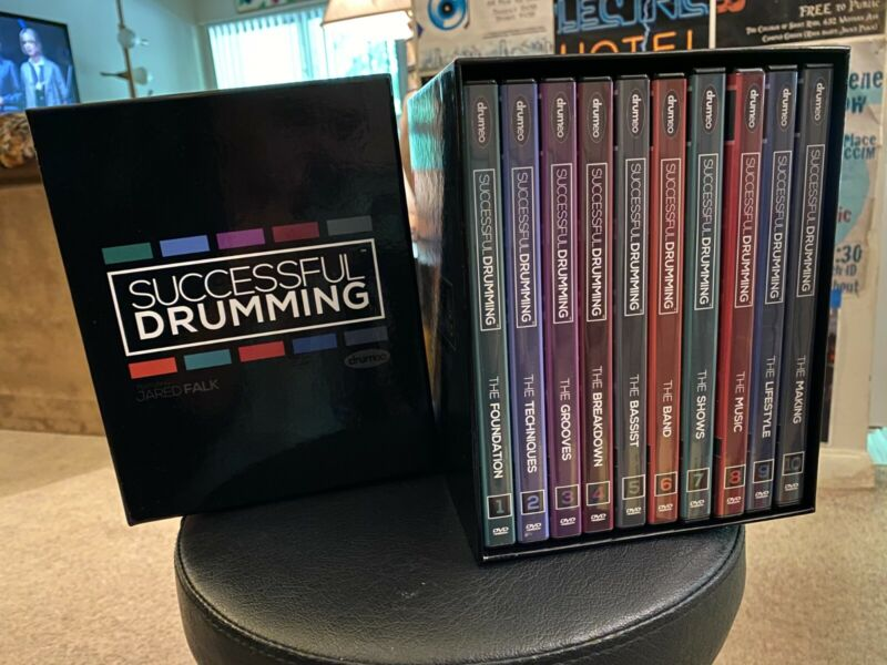 Successful Drumming by Jared Falk 10 DVD Set