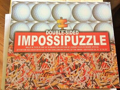 "IMPOSSIPUZZLE Double Sided Golf balls/Tees 550 pc Puzzle 26.75""x19.25""  Sealed"