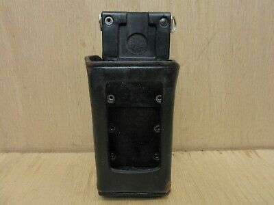 Police Leather Radio Case Holder D Swivel Belt Hook Kry 101 160512 R2a