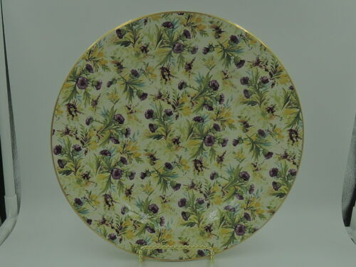 "Vintage Wade Chintz Thistle 10"" Dinner Plate"