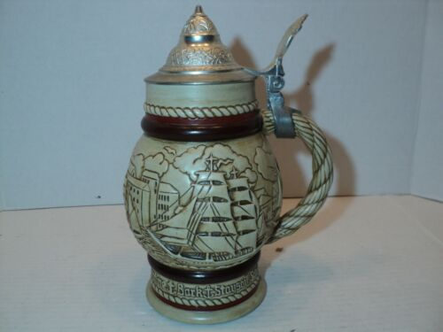 Avon vintage Beer Stein with lid 1977 # 902779 made in brazil for Avon