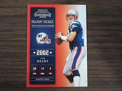 2002 Playoff Contenders Season Ticket # 7 Tom Brady Card New England Patriots B2