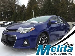 2015 Toyota Corolla S, nav, back up cam, leather, bluetooth, sun