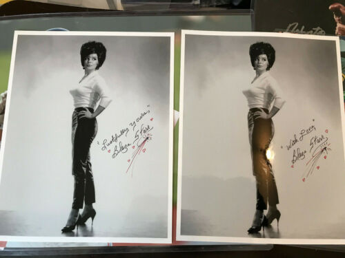BLAZE STARR auto HAND SIGNED 8x10 Bee Hive TIGHT SWEATER & Leather autograph