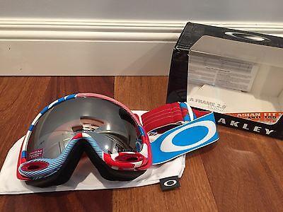 NEW Oakley A-Frame 2.0 Goggle Red White Blue Prizm Black Iridium MSRP $160 Asian