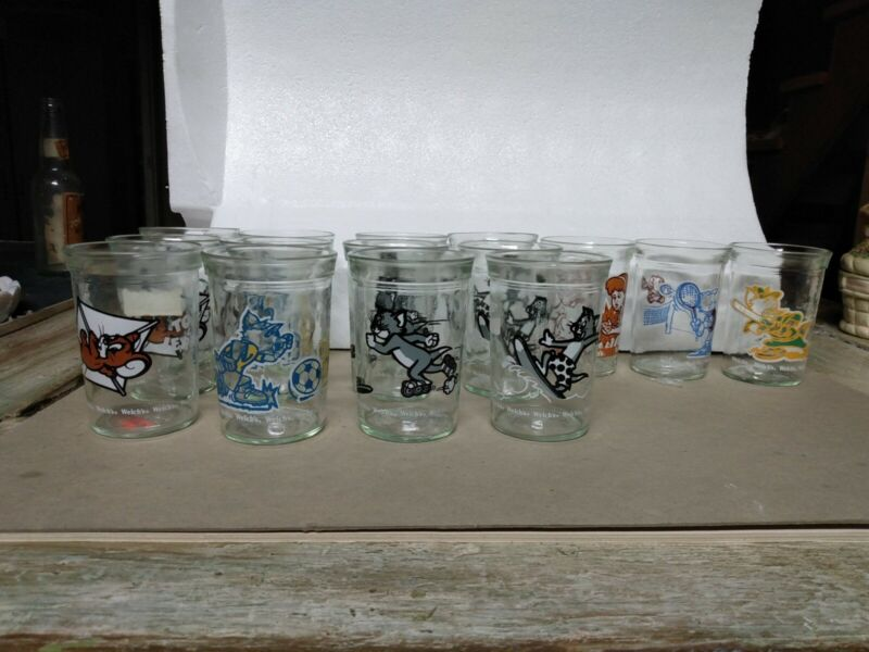 Set Of 15 Tom And Jerry Jelly Glasses