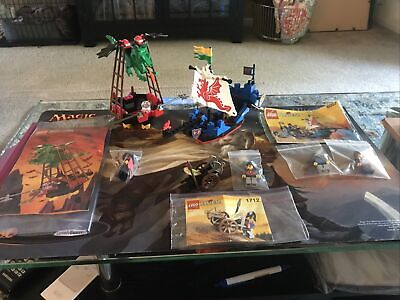 Lego Set 6057 Sea Serpent Ship, 1712, And 6037 All Vintage With Instructions