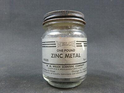 Zinc Metal Pieces 1 Pound W.m. Welch Scientific 38 X 1 Inch